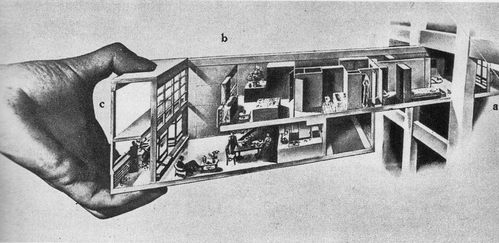 Principe (théorique) de l'appartement-tiroir
