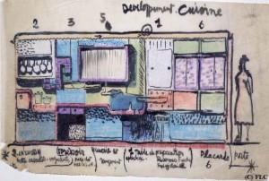 Esquisse de la cuisine © Fondation Le Corbusier